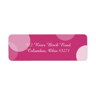 Hot Pink Polka Dot Confetti Address Label