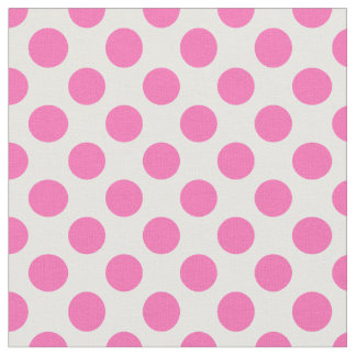 Hot Pink Polka Dot Fabric