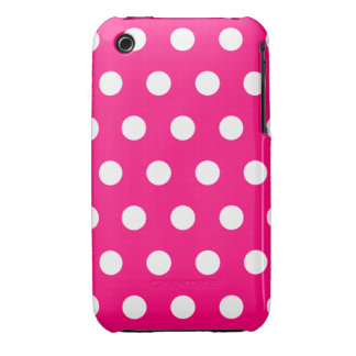 Hot Pink Polka Dot iPhone 3G Case Case-Mate iPhone 3 Cases