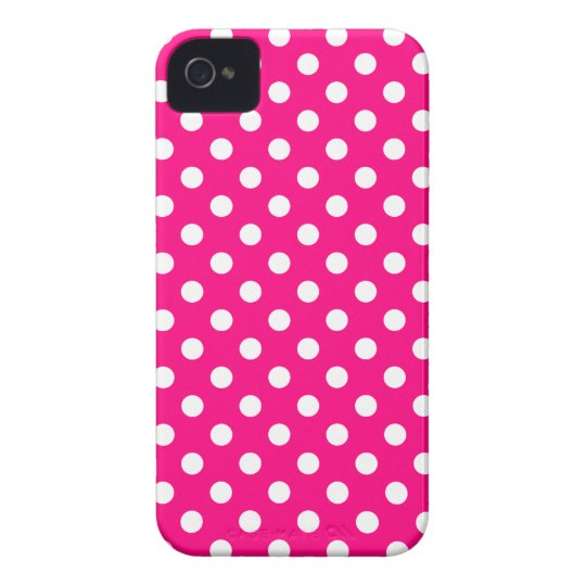 Hot Pink Polka Dot Iphone 4/4S Case