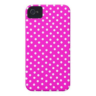Hot Pink Polka Dot iPhone 4 Case