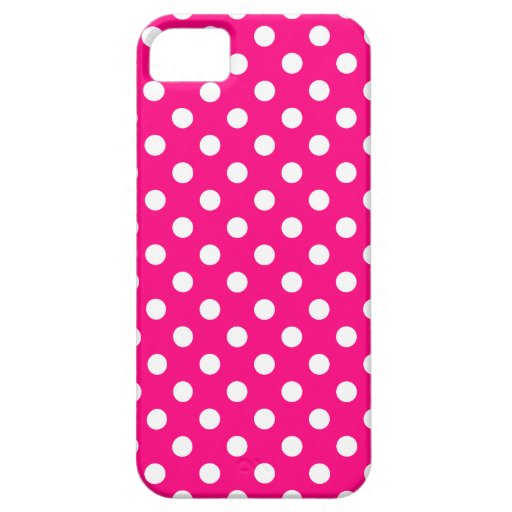 Hot Pink Polka Dot iPhone 5/5S Case