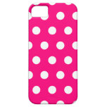 Hot Pink Polka Dot iPhone 5 Case
