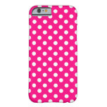 Hot Pink Polka Dot iPhone 6 case Barely There iPhone 6 Case