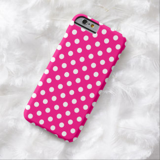 Hot Pink Polka Dot iPhone 6 case