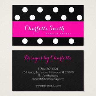 Hot Pink -&- Polka Dots Business Card