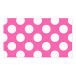 Hot Pink Polka Dots Business Card Template