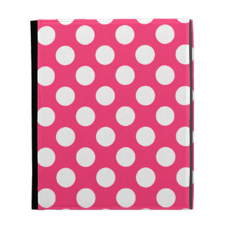 Hot Pink Polka Dots iPad Case