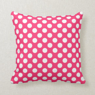 Hot Pink Polka Dots Cushion