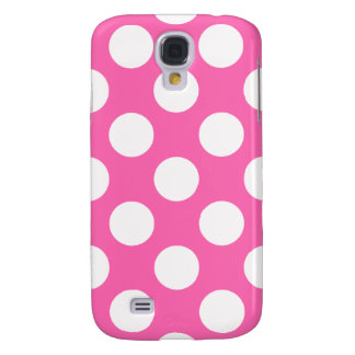 Hot Pink Polka Dots Galaxy S4 Case