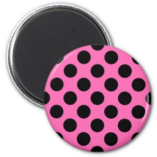 Hot Pink Polka Dots Magnet