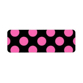 Hot Pink Polka Dots Return Address Label