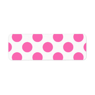 Hot Pink Polka Dots Return Address Label