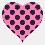Hot Pink Polka Dots Stickers
