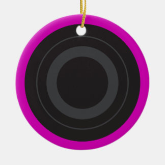 Hot Pink Pop Art Roller Derby Wheel Christmas Ornament