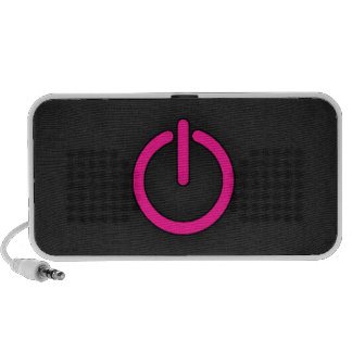 Hot Pink Power Button Travelling Speakers