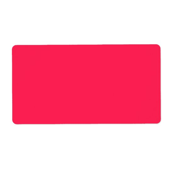 Hot Pink Premium Monochromatic Shipping Label