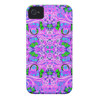 Hot Pink Purple Abstract iPhone 4 Case-Mate Case