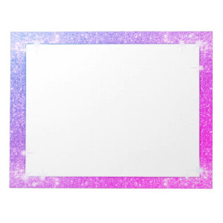 Hot Pink Purple Glitter Sparkle Faux Texture Notepad