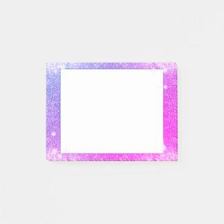 Hot Pink Purple Glitter Sparkle Faux Texture Post-it Notes