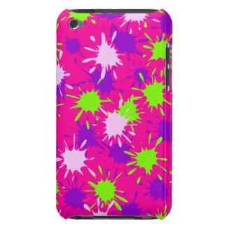 Hot Pink Purple Lime Green Paint Splatters Splotch iPod Touch Case-Mate Case