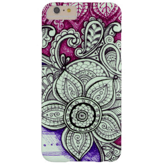 Hot Pink Purple White Floral Ethnic Exotic Mandala Barely There iPhone 6 Plus Case