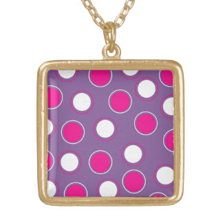 Hot Pink Purple White Polka Dots Concentric Circle Jewelry