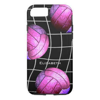 hot pink purple women's volleyball iPhone 8/7 case