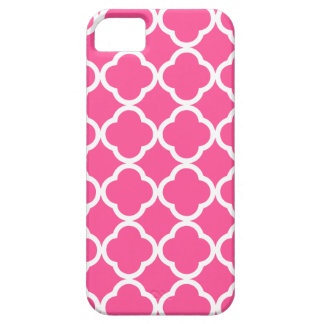 Hot Pink Quatrefoil iPhone 5 Covers
