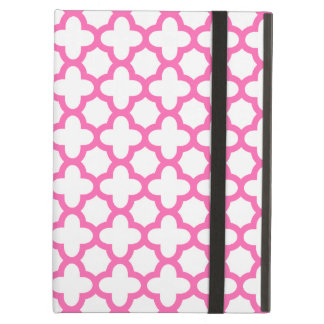 Hot Pink Quatrefoil Pattern Case For iPad Air