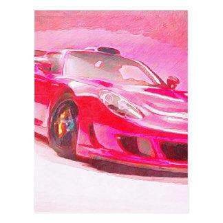 Hot Pink Racer Postcard