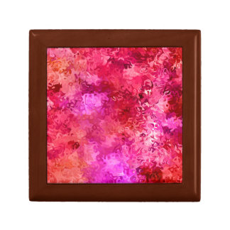 Hot Pink Red and Magenta Abstract Pattern Gift Box