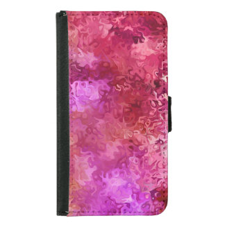 Hot Pink Red and Magenta Abstract Pattern Samsung Galaxy S5 Wallet Case