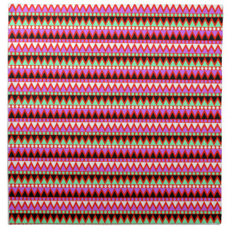 Hot Pink Red Mint and Black Tribal Style Pattern Napkin