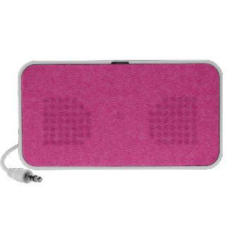 Hot Pink Retro Cardboard Colorful Texture Pattern Laptop Speakers