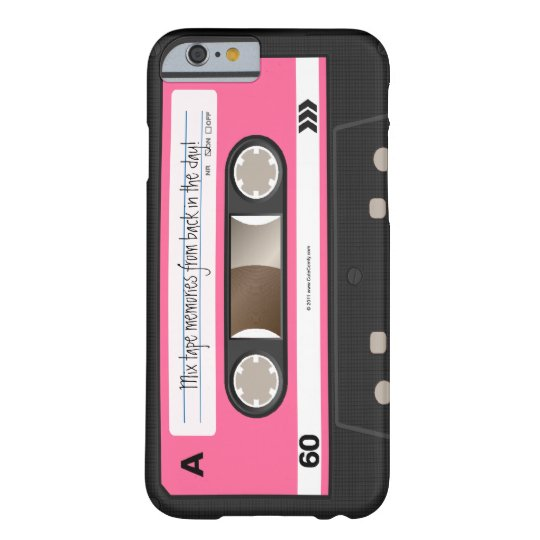 Hot Pink Retro Cassette Tape Personalised Case