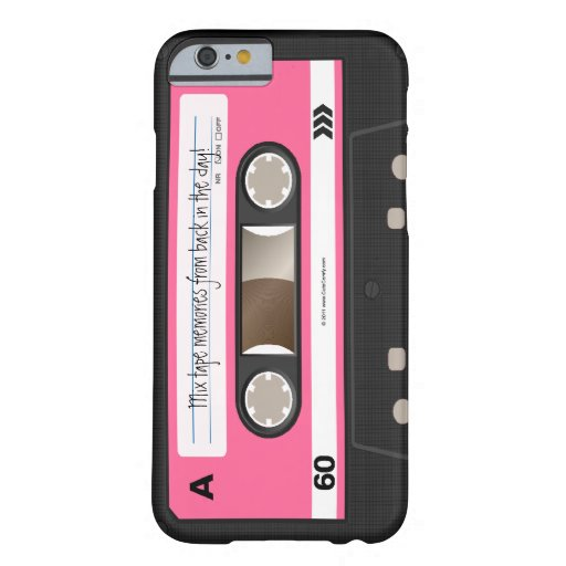 Hot Pink Retro Cassette Tape Personalised Case Barely There iPhone 6 Case