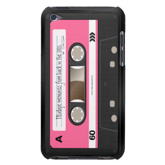 Hot Pink Retro Cassette Tape Personalized Case Case-Mate iPod Touch Case