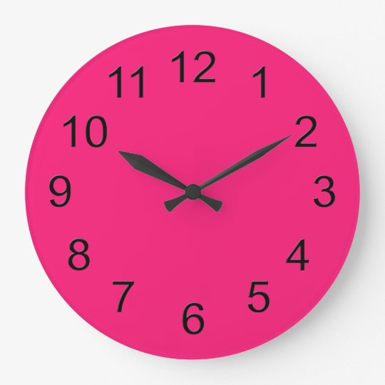 Hot Pink Retro Colourful Modern Solid Colour Large