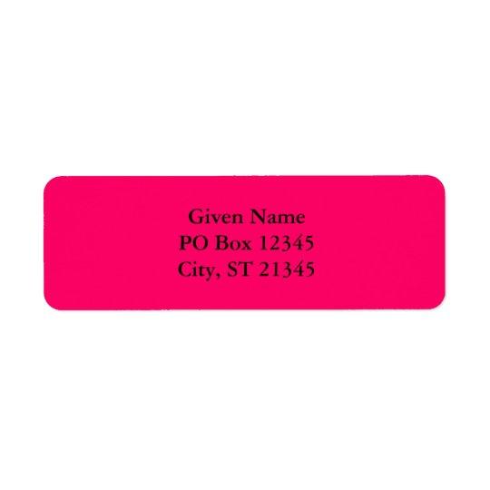 Hot Pink Return Address Label