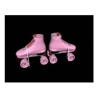 Hot Pink Roller Skates Post Card
