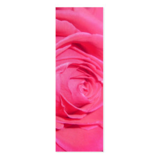Hot Pink Rose Bookmark Double-Sided Mini Business Cards (Pack Of 20)