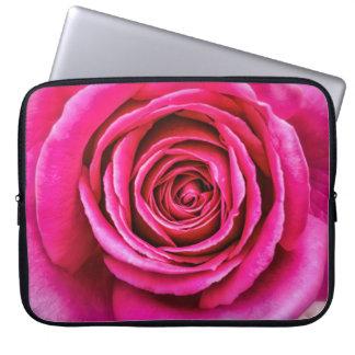 Hot Pink Rose Computer Sleeves