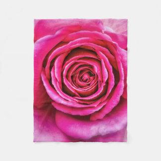 Hot Pink Rose Fleece Blanket