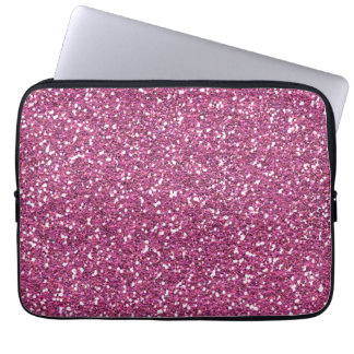 Hot Pink Rose Glamour Laptop Sleeves