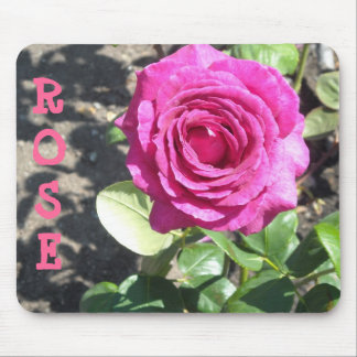 Hot Pink Rose Mouse Pad