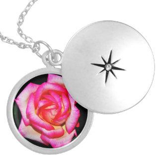 Hot Pink Rose Necklace