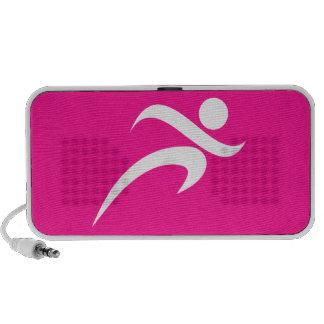 Hot Pink Running; Runner Travel Speaker