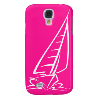 Hot Pink Sailing Galaxy S4 Case