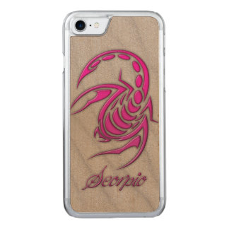 Hot Pink Scorpio on Beach Sand Carved iPhone 8/7 Case